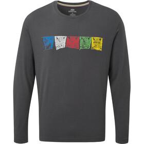 Sherpa Tarcho Camiseta Manga Larga Hombre, gris
